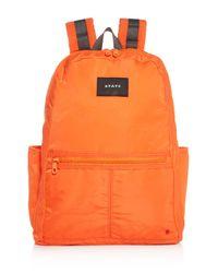 State Orange Bedford Nylon Backpack for men