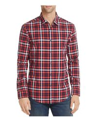 BOSS Green | Red Bersh Slim Fit Woven Button-down Shirt for Men | Lyst