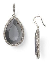 ABS By Allen Schwartz   Metallic Stone Drop Earrings   Lyst