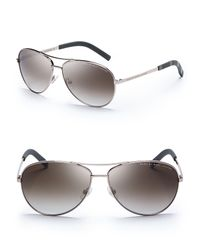 Marc By Marc Jacobs - Red Side Stripe Aviator Sunglasses - Lyst