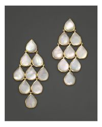 Ippolita | Metallic 18k Polished Rock Candy Cascade Earrings In Mother-of-pearl | Lyst