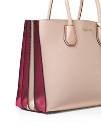 MICHAEL Michael Kors - Pink Mercer Large Leather Convertible Tote - Lyst