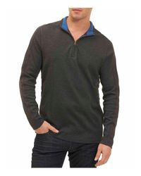 Robert Graham | Gray Elia Quarter-zip Sweater for Men | Lyst