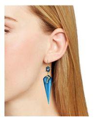 Alexis Bittar | Blue Satellite Crystal Spike Drop Earrings | Lyst