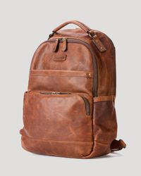 Frye | Brown Logan Leather Backpack for Men | Lyst