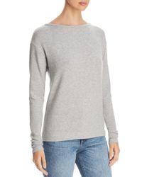Three Dots Gray Brushed Sweater