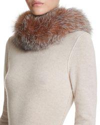 Surell Multicolor Fox Fur Scarf