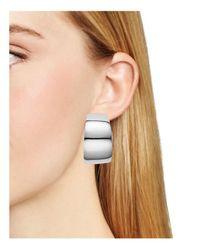 Argento Vivo Metallic Wide Hoop Earrings