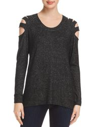 Love Scarlett - Black Cutout Shoulder Top - Lyst