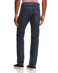Rag & Bone Blue Fit 3 Straight Fit Jeans In Clean Plattsburg for men
