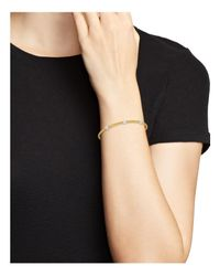 Roberto Coin Metallic 18k White & Yellow Gold Diamond Solid Spiga Bracelet