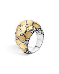 John Hardy Metallic Sterling Silver & 18k Gold Naga Dome Ring