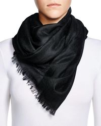 Fraas Purple Cashmere Solid Wrap Scarf