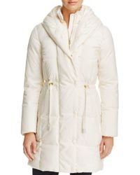 Cole Haan White Shawl Collar Coat