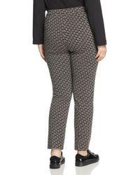 Marina Rinaldi - White Oboista Printed Jersey Pants - Lyst