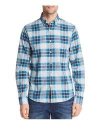 Michael Kors - Blue Dozier Check Slim Fit Long Sleeve Button-down Shirt for Men - Lyst