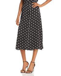 Cami NYC Black Annabelle Polka Dot Silk Midi Skirt