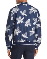 Sovereign Code Blue Walden Floral Reversible Bomber Jacket for men