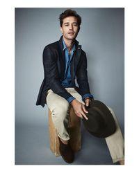 Aquatalia - Brown Men's Raphael Weatherproof Suede Chukka Boots for Men - Lyst