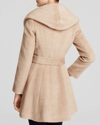 Trina Turk Natural Grace Hooded Alpaca Coat