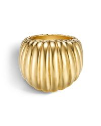 John Hardy | Metallic Bedeg 18k Gold Dome Ring | Lyst