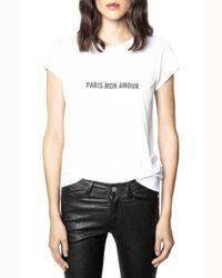 Zadig & Voltaire White Paris Mon Amour Graphic Tee