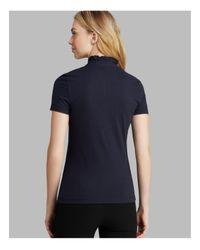 Tory Burch Blue Lidia Polo Shirt