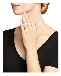 Ippolita - Metallic 18k Yellow Gold Rock Candy® Mother-of-pearl And Quartz Doublet Ring - Lyst