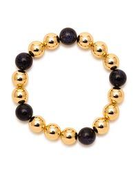 Gorjana Metallic Newport Blue Sandstone Beaded Expandable Bracelet
