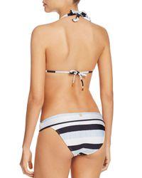 ViX Blue Sea Glass Stripe Foldover Bikini Bottom