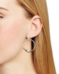 Robert Lee Morris Metallic Wire Hoop Earrings