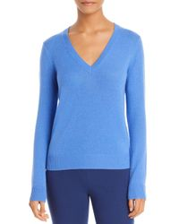 Theory Blue Featherweight Cashmere Sweater