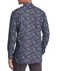 Paul Smith - Blue 1974 Print Slim Fit Dress Shirt for Men - Lyst