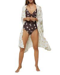O'neill Sportswear Multicolor Kimberly Printed Kimono Cover - Up