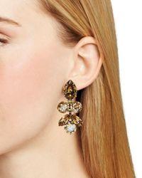 Sorrelli Metallic Lotus Bloom Swarovski Crystal Drop Earrings