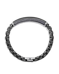 David Yurman - Metallic Meteorite Id Bracelet for Men - Lyst