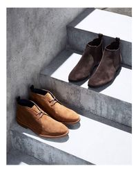 Kenneth Cole - Brown Suede Chelsea Boots - Lyst