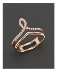 Bloomingdale's - Metallic Diamond Midi Ring In 14k Rose Gold, .13 Ct. T.w. - Lyst