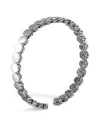 John Hardy Metallic Dot Sterling Silver Slim Cuff Bracelet