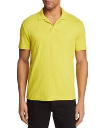 Theory Yellow Willem Short Sleeve Polo Shirt for men