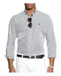 Polo Ralph Lauren Black Hairline-striped Poplin Button-down Shirt - Classic Fit for men