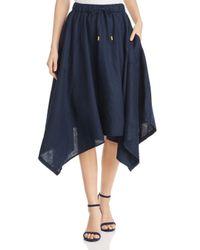 DKNY Blue Donna Karan New York Linen Handkerchief - Hem Skirt
