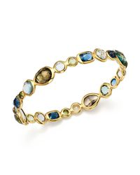 Ippolita | Metallic 18k Gold Rock Candy Gelato Bangle In Tartan Sett | Lyst