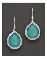 Ippolita - Metallic Sterling Silver Stella Earrings In Turquoise Doublet With Diamonds - Lyst