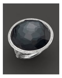 Ippolita   Multicolor Stella Ring In Hematite Doublet With Diamonds In Sterling Silver   Lyst