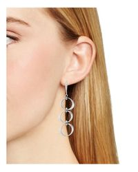 Robert Lee Morris - Metallic Linear Circle Drop Earrings - Lyst