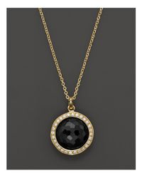 "Ippolita | Metallic Rock Candy Mini Black Onyx And Diamond Pendant Necklace In 18k Gold, 16"" | Lyst"