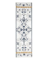 Fraas - Blue Floral Scroll Oblong Scarf - Lyst