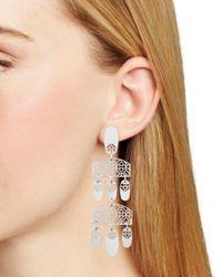 Kendra Scott - Metallic Emmet Tiered Chandelier Earrings - Lyst