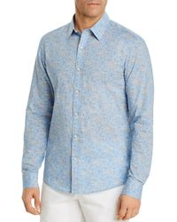 Michael Kors Blue Liberty Capel Floral Print Button - Down Cotton Shirt for men